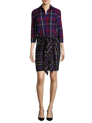 Kylie Plaid Shirtdress