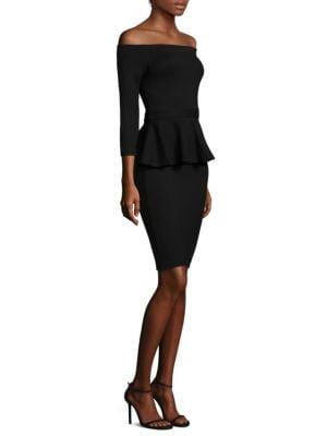 Ophelia Off-the-Shoulder Peplum Bodycon Dress