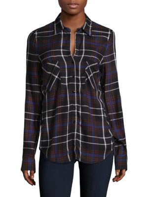 Denise Plaid Blouse by L'AGENCE