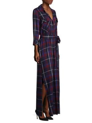 Cameron Plaid Long Maxi Shirtdress