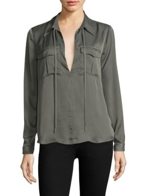 The Atwood Long-Sleeve Blouse by L'acadamie