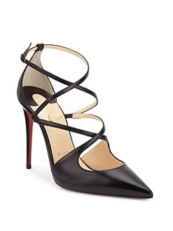 Christian Louboutin - Crossfliketa Leather Pumps
