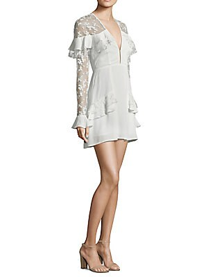 b382521a039f For Love & Lemons - Rosebud Embroidery Mini Dress - saks.com