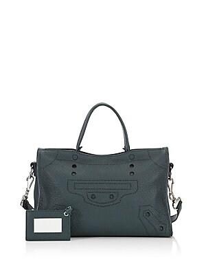 4a0eb2dc9a31 Balenciaga - Small BlackOut City Leather Shoulder Bag - saks.com
