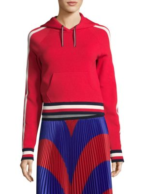 Corporate Cropped Hoodie by Tommy Hilfiger Collection