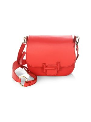 Image of Double T Leather Saddle Bag