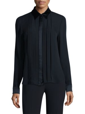 Izarra Silk Blouse by Elie Tahari