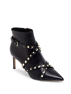 f62365377fbc Valentino Garavani - Stud Wrap Leather Booties - saks.com