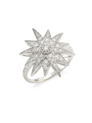 Shay Celestial Diamond 18k White Gold Starburst Ring