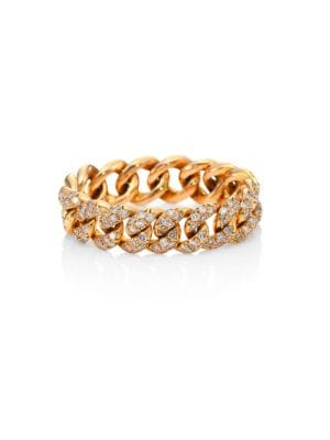 essentials-pave-diamond-&-18k-rose-gold-link-ring by shay