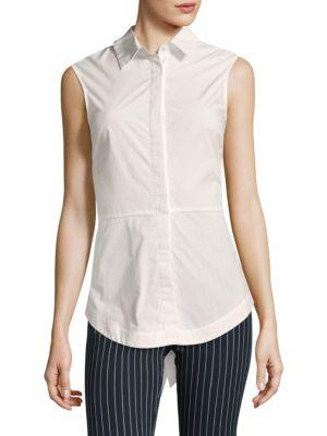 Buy Derek Lam 10 Crosby Poplin Cotton Button-Down Shirt online with Australia wide shipping