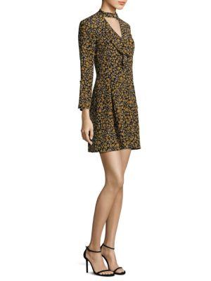 Image of Floral Cascade Choker Dress