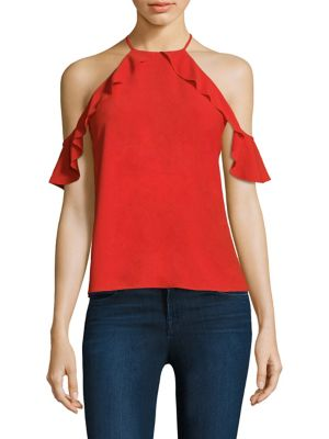 Saga Cold Shoulder Blouse by Cooper & Ella
