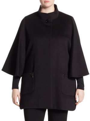 Jewel Wool Capelet by Cinzia Rocca, Plus Size
