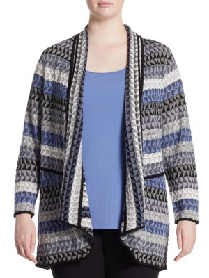 "Image of Cardigan featuring embroidered intricate design. Open front. Long sleeves. About 27"" from shoulder to hem. Linen/rayon/nylon/acrylic/polyester. Hand wash. Imported. ."
