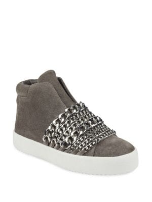 Duke High-Top Chain Sneakers, Grey