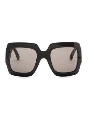 cb338521c795 Gucci 54Mm Glitter-Detail Square Sunglasses In Black | ModeSens