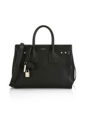 Grained Leather Sac De Jour Satchel by Saint Laurent