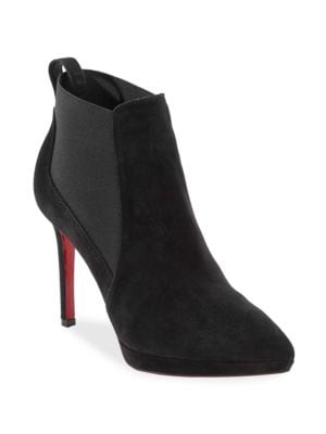 Crochinetta 100 Suede Booties by Christian Louboutin