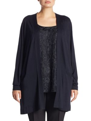 Long-Sleeve Cardigan by Lafayette 148 New York, Plus Size