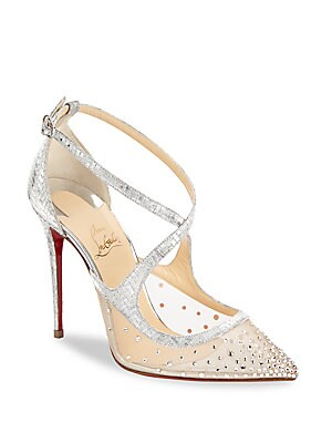 new concept 6d286 97328 Christian Louboutin - Twistissima Strass 100 Metallic ...