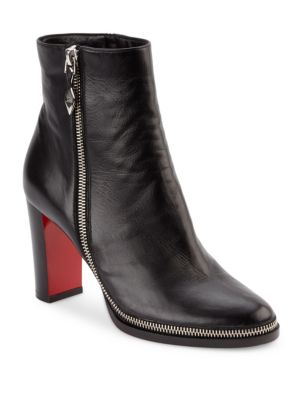 Telezip Crinkled Red Sole Ankle Boot, Black from Christian Louboutin