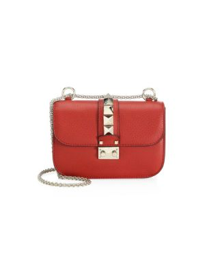 Valentino Garavani Small Rocklock Leather Crossbody Bag