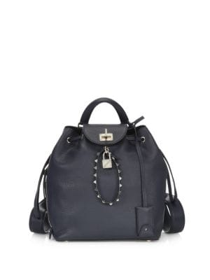 Rockstud Leather Backpack by Valentino Garavani