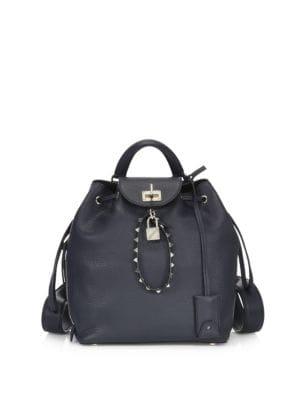 Rockstud Leather Backpack by Valentino Garavani