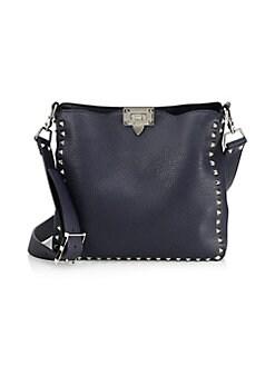 92979acf46 Valentino Garavani. Rockstud Utilitarian Hobo Bag