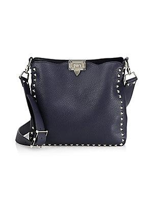 Valentino Garavani - Small Rockstud Leather Hobo Bag - saks.com 35331f09b96fa