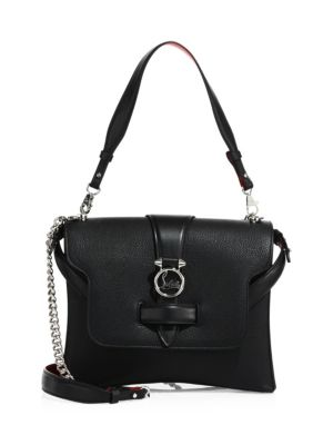 Small Rubylou Calfskin Leather Bag - Black