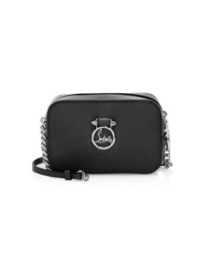 Mini Rubylou Calfskin Leather Crossbody Bag in Black