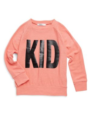 Unisex Babys Toddlers  Kids Aries Print Faux Cashmere Sweater