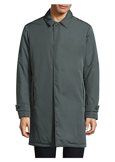 Image of .Casual jacket featuring button tab detail at cuffs. .Point collar. .Long sleeves. .Concealed button front. .Side welt pockets. .Polyester. .Machine wash. .Imported. .