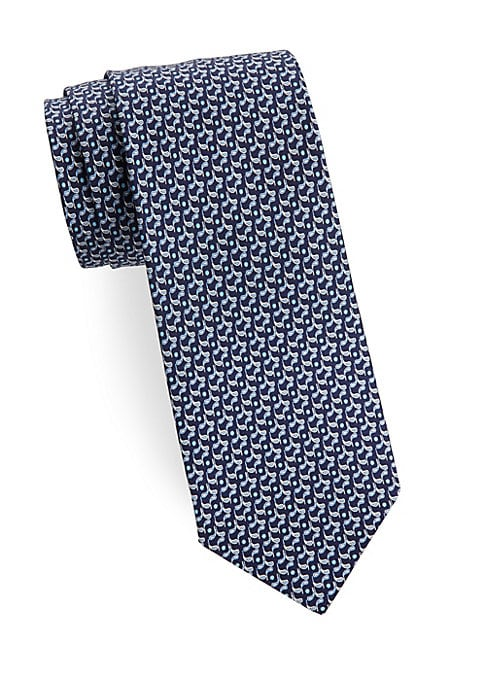 "Image of Allover graphic silk tie that completes your formal look.3"" wide. Silk. Dry clean. Made in Italy."