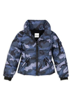 Girls Camo Freestyle Puffer Jacket