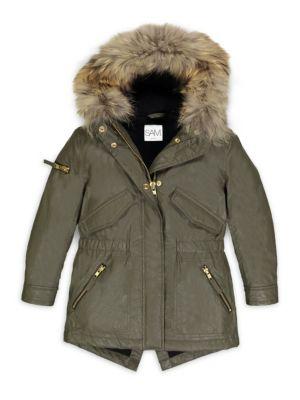 Girls Hudson FurTrim Parka Coat