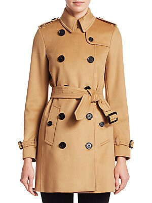 4658f68a40931 Burberry - Kensington Double Breasted Trench Coat - saks.com
