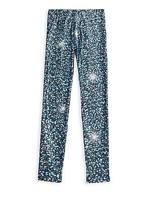 d86ac2aed Terez - Girl's Metallic Splatter Leggings - saks.com