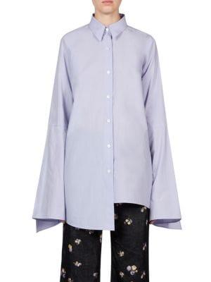 Asymmetric Cotton Poplin Shirt by Acne Studios