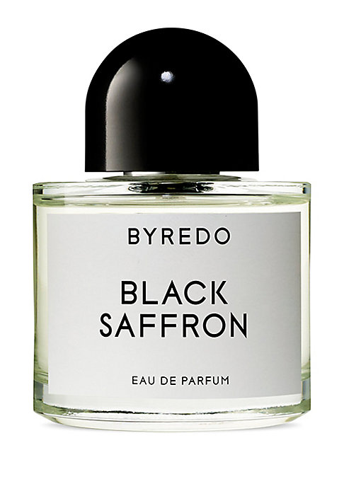 Image of Black saffron, an oriental composition, opens with the bright citrus note of the Asian pomelo and crisp juniper berries, mellowed into a golden silage by Kashmiri saffron. At its heart, lies black violet fused with a leather accord, their dark, dry compos