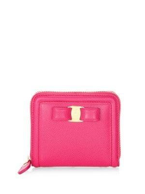 French Leather Zip Around Wallet by Salvatore Ferragamo
