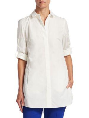 Cotton Button-Front Tunic by Akris punto
