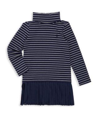 Toddlers Little Girls  Girls Stripe Turtleneck Dress