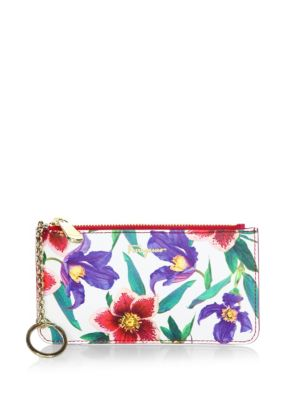 Floral Leather Card Case by Salvatore Ferragamo