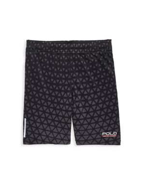 Image of .Athletic shorts featuring cool triangle pattern. .Elasticized waistband with interior drawstring. .Side welt pockets. .Moisture-wicking ThermoVent technology. .Polyester. .Machine wash. .Imported. .