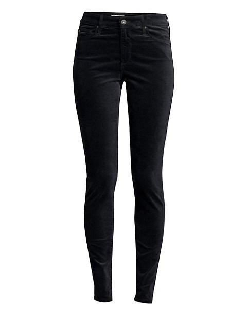 Farrah High-Rise Velvet Skinny Pants
