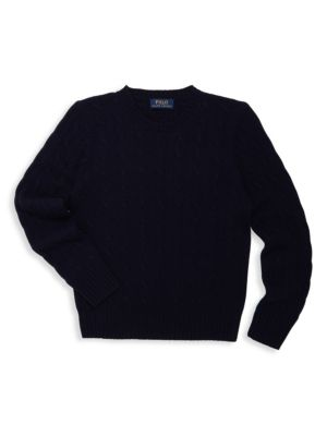 Boys CableKnit Cashmere Sweater