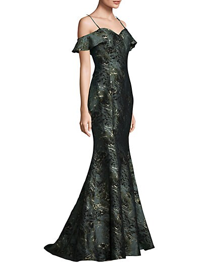 5bf7e2b840e7 Alberto Makali Off-the-Shoulder Texture Mermaid Gown on sale at Saks ...